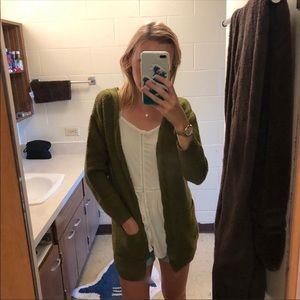Women's Green Cardigan
